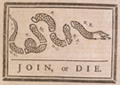 Join, or Die, cartoon in The Pennsylvania Gazette