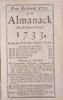 Poor Richard, 1733: An Almanack For the Year of Christ 1733 . . .