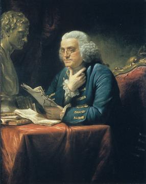 Portrait Of Benjamin Franklin Martin White House The